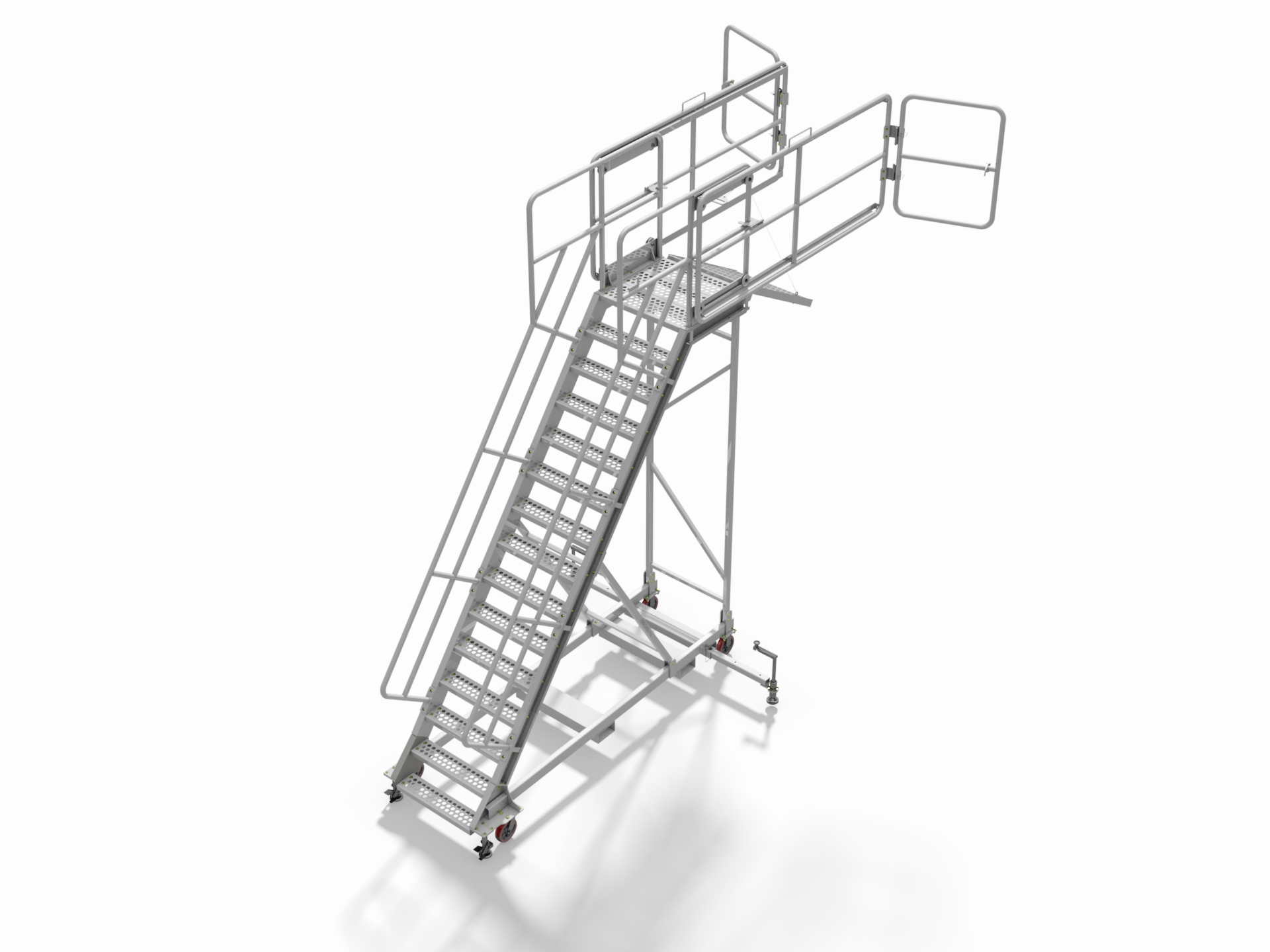 Aluminum Hoist Cylinder Stairs-B & D Manufacturing